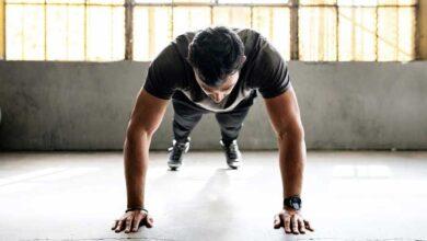 در حال ورزش
