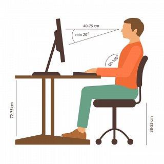 Correct Computer Posture Example