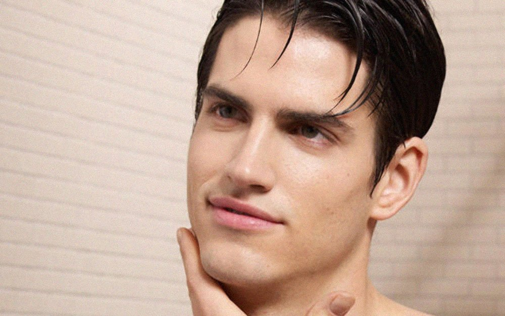 men's facial hair clean shaven