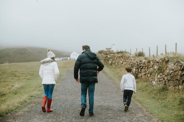 people walking down driveway in Scotland communication techniques
