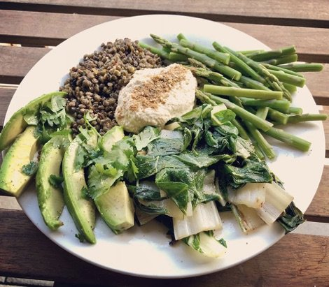 What does a yoga teacher eat in a day - salad