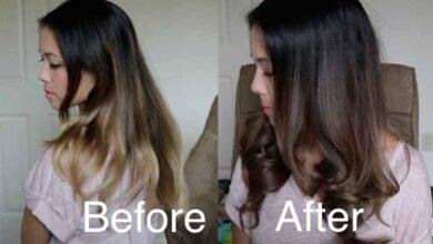 تیره کردن رنگ مو