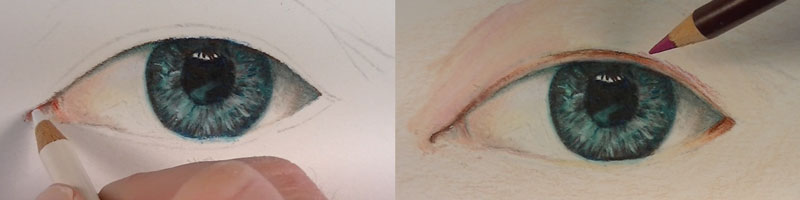 Add skin tone around the eye.