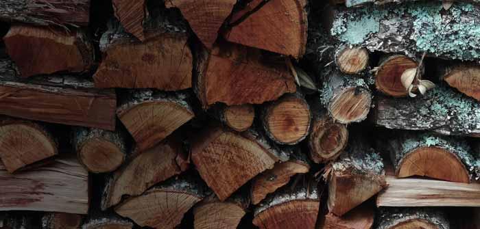 چوب انباشته شده