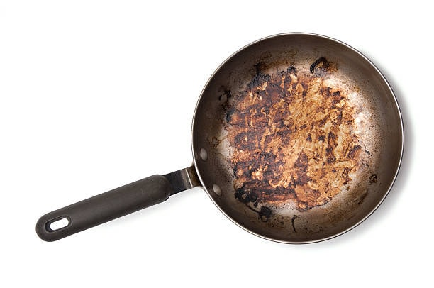 Tip to clean burnt food pan.