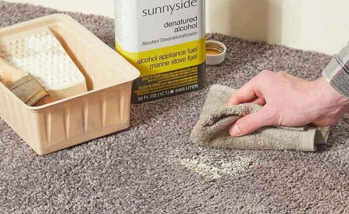 تمیز کردن رنگ از روی فرش