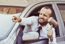 خشم موقع رانندگی
