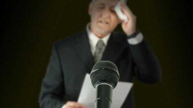 استرس موقع سخنرانی
